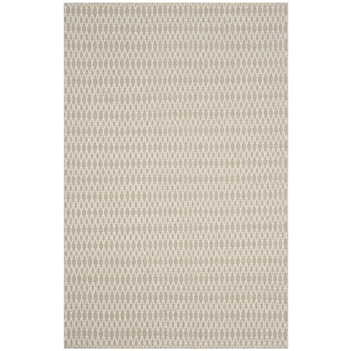 Safavieh Oasis Collection OAS432B Beige and Ivory Area Rug, 6' x 9'