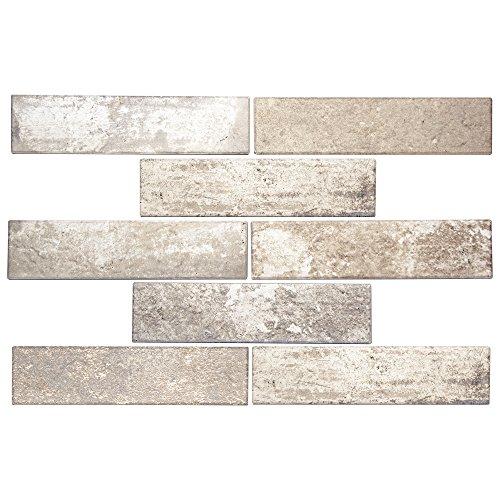 Broadway State Street - Beige Rustic Porcelain Subway Tile for Kitchen Backsplash, Wall, Shower - 2.5