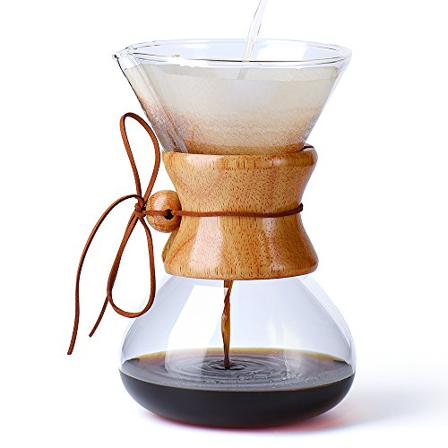 Price comparison product image Glotoch Glass Coffee Dripper,  Pour Over Brewer Coffee Maker,  Classic Hand Drip Brewer for Paper Filter800ml,  6cups)