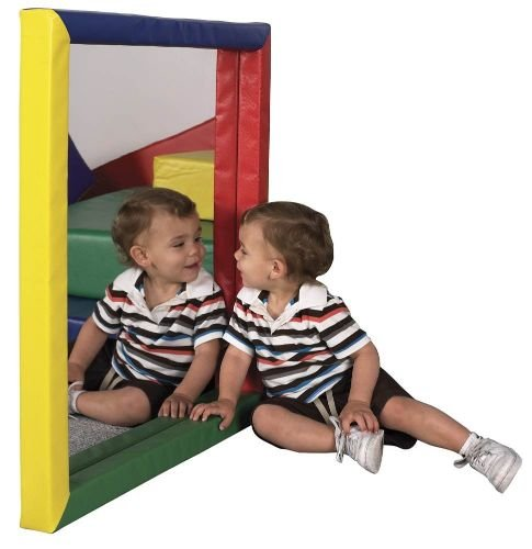 ECR4Kids SoftZone Padded Toddler Mirror, Flat, Assorted