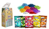 Amora Organic Herbal Holi Colors Gulal Box with 5 Different Colors 500g. ( 5 X 100 gms)