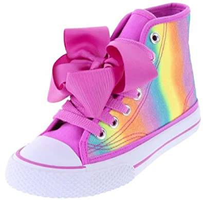 fbc19b2ef5e Nick Jr JoJo Siwa Girls Sneaker Shoes High Top Rainbow Bow (2)