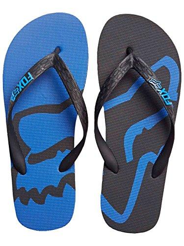 Fox Racing Beached Mens Sandal Flip Flops - Black/Blue - - Fox Sandals Mens