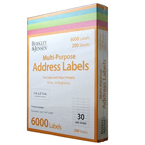 ensen Multi-Purpose Address Labels, 6,000 ct. - Gift Wrap & Supplies [Bulk Savings] ()