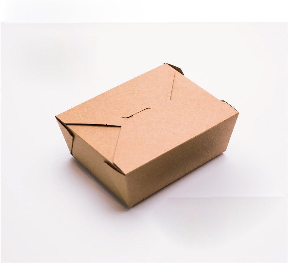 El papel de estraza grueso cuadro comida sushi ensalada de frutas de papel kraft de embalaje para llevar sólo la caja ,1200ml/300: Amazon.es: Hogar