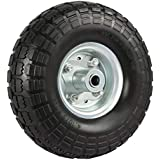 10 Inch HD Pneumatic Wheel /& Tyre 260x85 Bent Valve No Bearings Beach Trolley