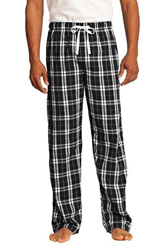 Black Plaid Flannel Pants - District Men's Young Flannel Plaid Pant M Black