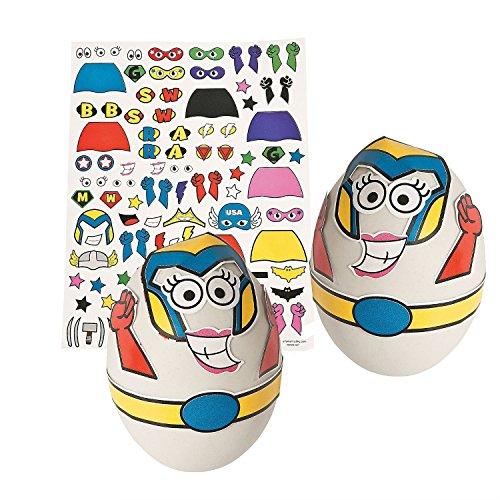 Superhero Easter Egg Decorating Stickers