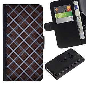 Planetar® Modelo colorido cuero carpeta tirón caso cubierta piel Holster Funda protección Para Samsung Galaxy S3 MINI i8190 (NOT S3) ( Modelo del papel pintado azar Diseño Rayas )