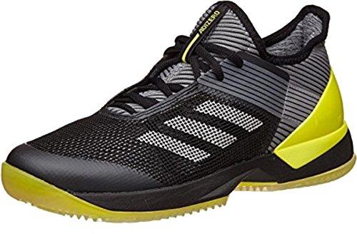 シャワーチーム凍結アディダス adidas テニスシューズ ウイメンズ 22.5cm アディゼロ ウーバーソニック 3 CL 国内正規品 BY1618 ブラック