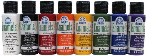 FolkArt Enamel Beginner Set (2-Ounce), ENAM8SET