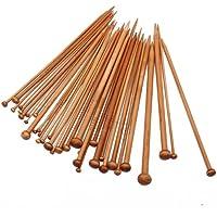 Imported 18 Sizes Carbonized Bamboo Knitting Needles Single Pointed Needles