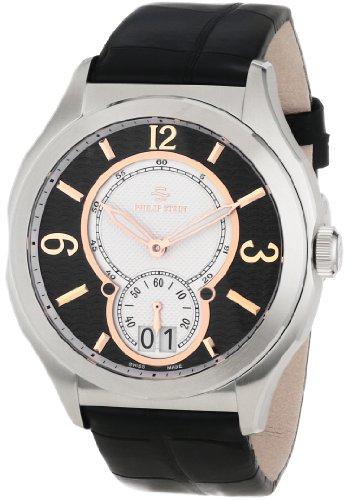 Philip Stein Men's 17-FRGBW-AB Prestige Black and Rose Gold Black Alligator Strap Watch