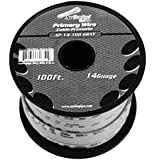 GRAY 14 gauge 100 Feet Power Cable Car Audio Primary Remote Wire Copper mix