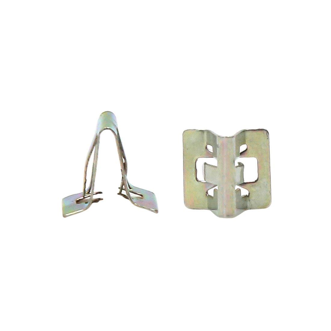 sourcingmap 30pcs 6mm Car Card Buckle Hole Trim Boot Rivets Clips Bronze Tone a16112100ux1000