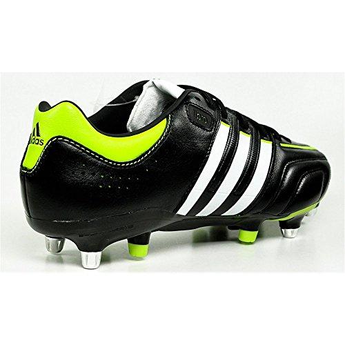 adidas adipure 11Pro XTRX SG - Botas de fútbol de cuero para hombre Blanco-Negro-Verde