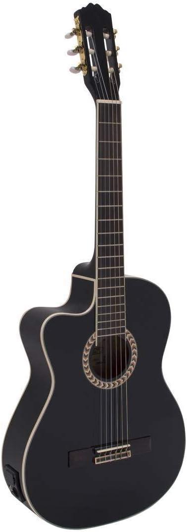 Guitarra de concierto WILLIAM para zurdos con fonocaptor, negro - Clásica / Instrumento de cuerda - showking