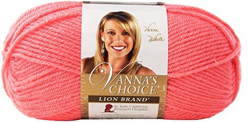 Lion Brand Yarn 860-104 Vanna's Choice Yarn, Pink Grapefruit (Vannas Choice Baby Yarn)