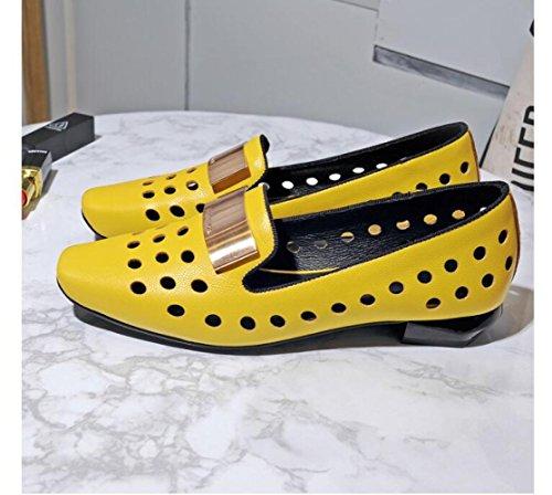 del Tendón Casuales Zapatos Fondo ZFNYY Huecos Planos Casuales Zapatos Cómodos 8twqzwU