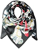 Echo Women's Staffordshire Dogs Silk Square Scarf Accessory, -magnet, One Size