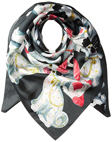 Echo Women's Staffordshire Dogs Silk Square Scarf Accessory, -magnet, One Size by Echo Design