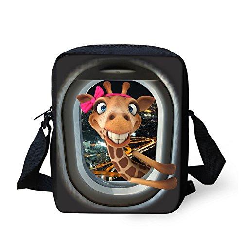 Coloranimal Smile Giraffe Print Messenger Bags Women Travel Shoulder Bag