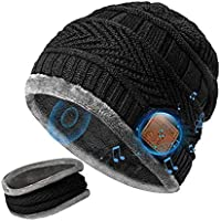 DeeCozy Bluetooth Beanie with Scarf, Rechargeable Knitted Hat, Warm and Comfortable Bluetooth 5.0 Music Player Winter…