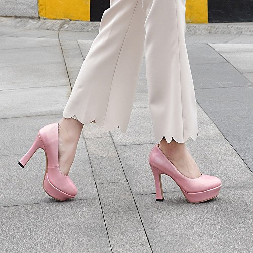 Carolbar Scarpe Da Donna Eleganti Tacchi Alti Scarpe Da Sposa Da Sposa Rosa