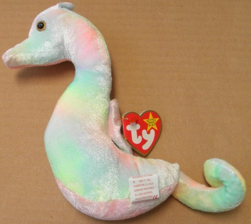 TY Beanie Babies Neon the Seahorse Plush Toy Stuffed Animal