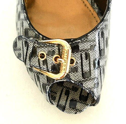 Guess Chaussures Pour Femme Décolleté En Tissu Ciré Mod Flbow2fal07 N ° 39