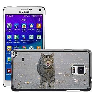 Super Stella Slim PC Hard Case Cover Skin Armor Shell Protection // M00107807 Animals Cat Mackerel Tongue // Samsung Galaxy Note 4 IV