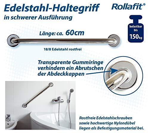 Haltegriff Edelstahl poliert 45 cm im Geschenkkarton Rollafit