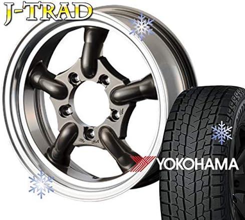 モーターファーム スタッドレスタイヤ ホイール 4本セット ファーム オリジナル J-TRAD DCリム ガンメタリック 16×5.5J/5H+20 ヨコハマ アイスガード SUV G075 185/85R16 (yokohama ice guard 冬用 雪)