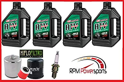 RPM Suzuki Eiger LTA400 Lt 400 Tune Up Service Kit NGK Spark Plug Maxima Oil Change