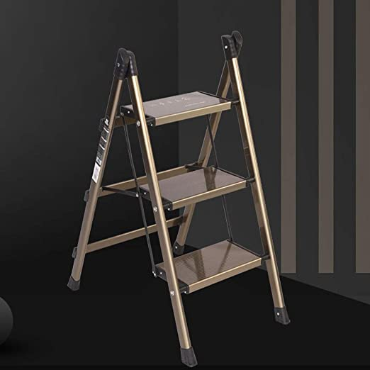 LSXLSD Escalera Plegable de 3 escalones de Metal taburetes Altos de la Cocina del hogar ahorran Espacio Plataforma Multifuncional Plegable de la Biblioteca de la Cocina de la Cocina pl: Amazon.es: Hogar