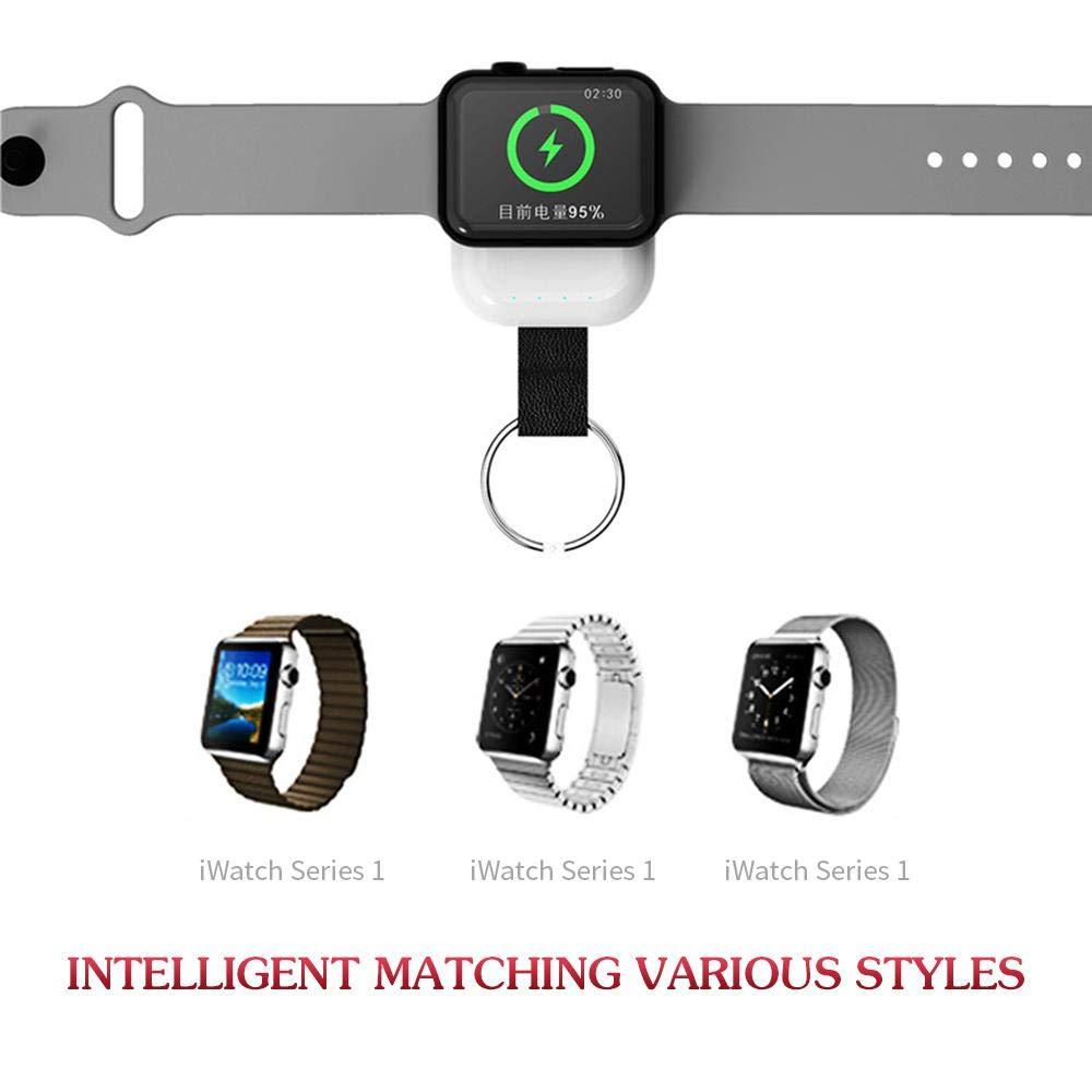 Womdee Cargador de Apple Watch, Cargador inalámbrico iWatch con batería de Viaje de 700 mAh incorporada, tamaño de Bolsillo portátil para Apple Watch ...