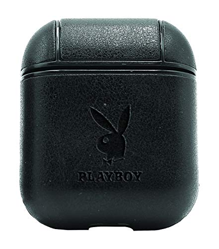The Playboy (Vintage Black) Air Pods Protective Leather Case Cover - a New Class of Luxury to Your AirPods - Premium PU Leather and Handmade exquisitely by Master Craftsmen