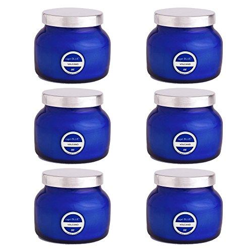 Price comparison product image Capri Blue 8 oz Signature Petite Blue Jar Volcano (6 pack),  Assorted,  One Size