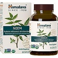 Himalaya USDA Neem Capsule - Tutti i naturali pulizia della pelle, Acne Remediation e Blood Detoxification Supplement - Una migliore alternativa all'olio di Neem - 60 pezzi (Neem - Skin Supplement)