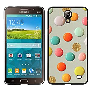 LECELL--Funda protectora / Cubierta / Piel For Samsung Galaxy Mega 2 -- Pintura Oro Arte de papel Arte Lunares --