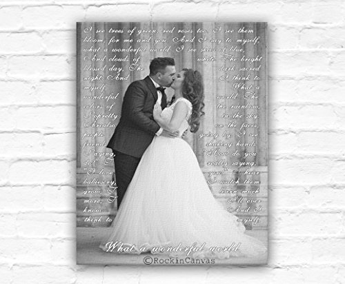 First Dance Lyrics/ Wedding Canvas Photo Decor Words Vows lyrics/ Anniversary or Wedding Art by RockinCanvas (Image #1)