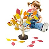 2017 Hot Sale Montessori Wooden Toys Assembled Tree Wood Green Leaves Building Chopping Block Early Educational Toy