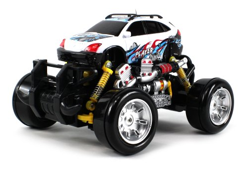 Graffiti Lexus RX Crossover Electric RC Drift Truck 1:18 Scale 4 Wheel Drive Ready To Run RTR, Working Spring Suspension, Perform Various Drifts (Colors May Vary)