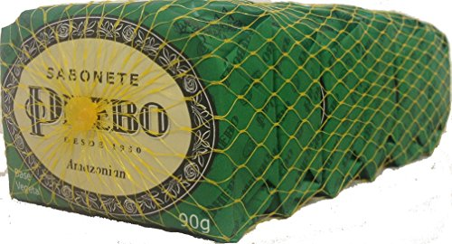 Linha Tradicional Phebo - Sabonetes em Barra de Glicerina Amazonian (6 x 90 Gr) - (Phebo Classic Collection - Glycerin Bar Soaps Amazonian Soap (6 x3.2 Net Oz))