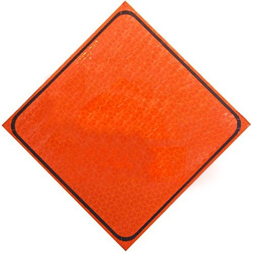 Orange Marathon 48 Panel Dicke Safety Products 3000XP-48MAR Fold and Roll Sign