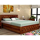 LifeEstyle-com : Sheesham Wood Queen Size Box Bed