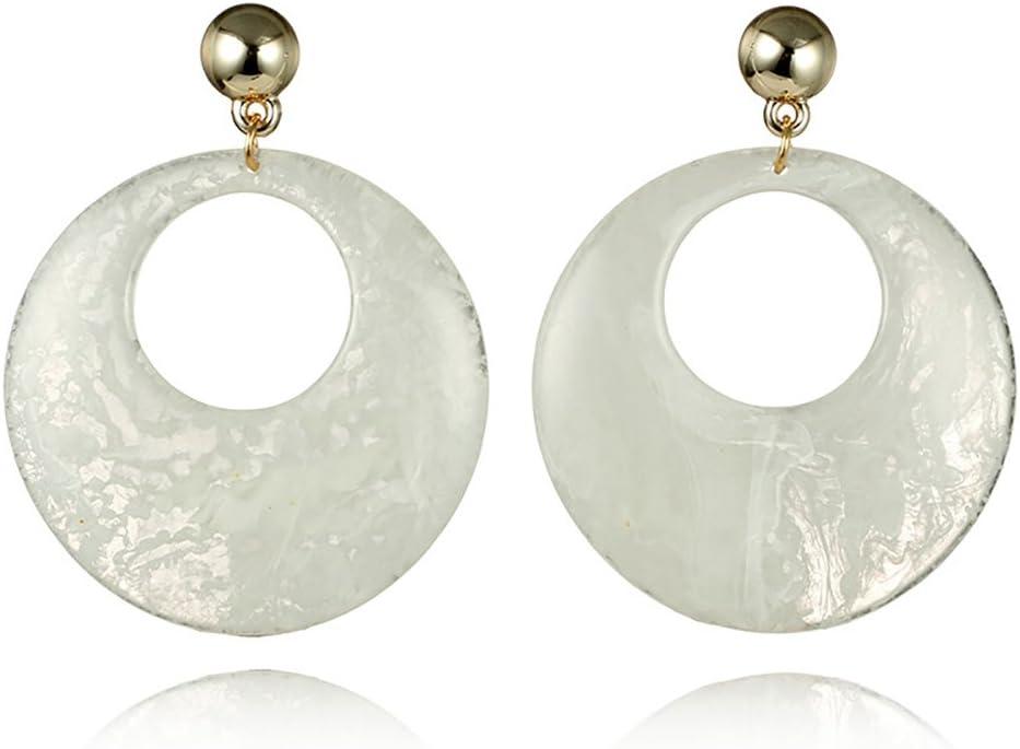 Lovely Floral Earrings Acrylic Drop Dangle Alloy Ring Ear Stud Women Jewelry
