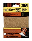 3M 9223NA 4.5-Inch by 5.5-Inch Clip-On Palm Sander Sheets, Asst grit, 6-pack by 3M