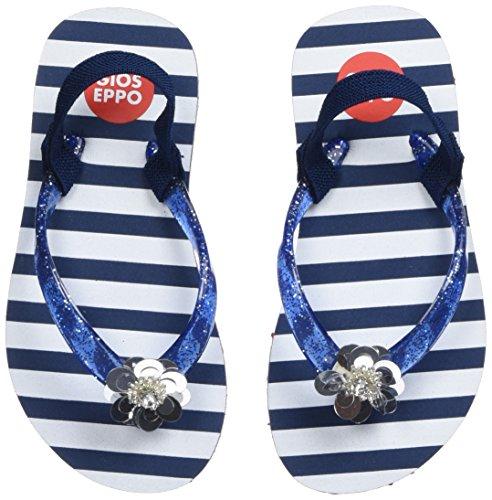 Gioseppo 43267, Sandalias con Punta Abierta Para Niñas Azul (Marino)