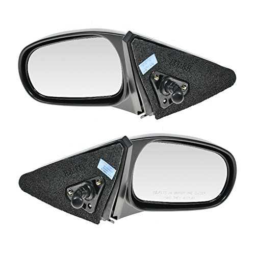 Manual Remote Side View Mirrors Pair Set of 2 for 96-00 Honda Civic 2 & 3 - Side Mirror 2 Door Manual